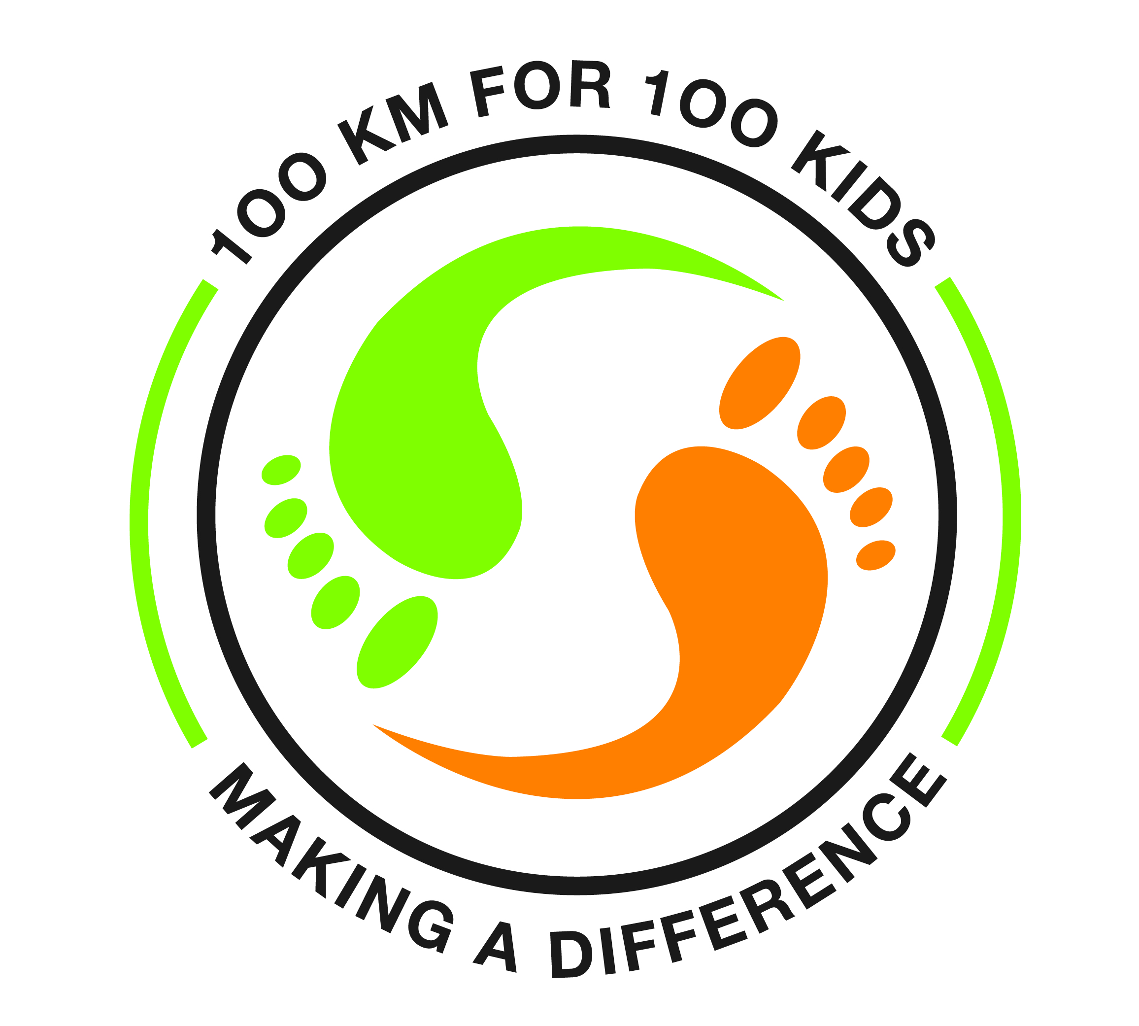 100km for 100kids logo (on light)