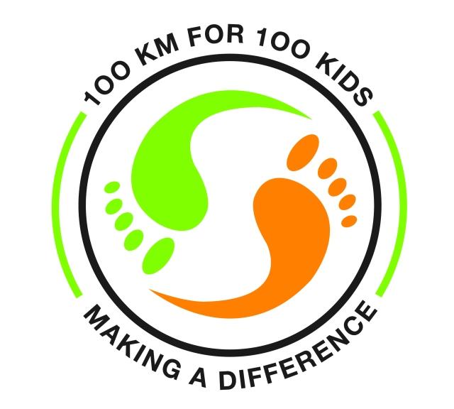 100km for 100kids logo (on light)